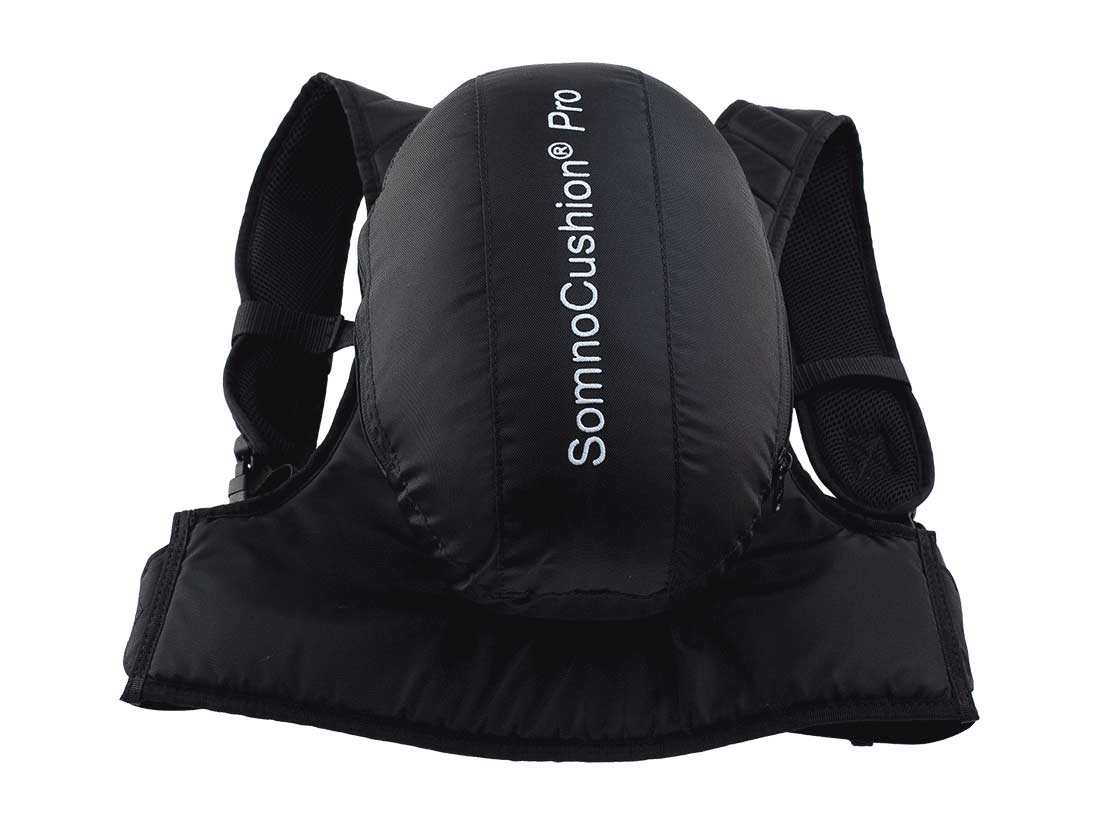 SomnoCushion pro positional sleep device to treat positional snoring and positional sleep apnoea