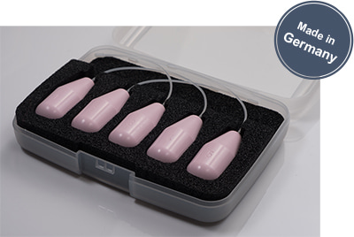 VagiFit vaginal cone set consisting of 5 vaginal cones of different weights