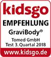GraviBody was awarded with the kidsgo test seal